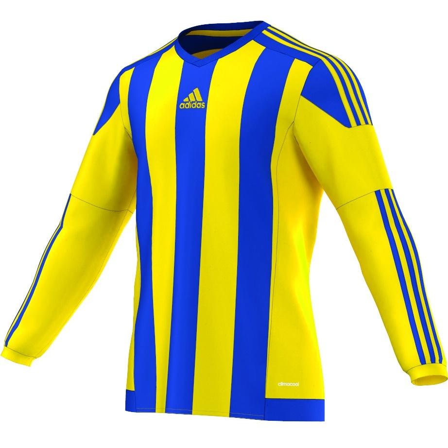 Adidas Striped 15 Long Sleeve Football Shirt Adult ...