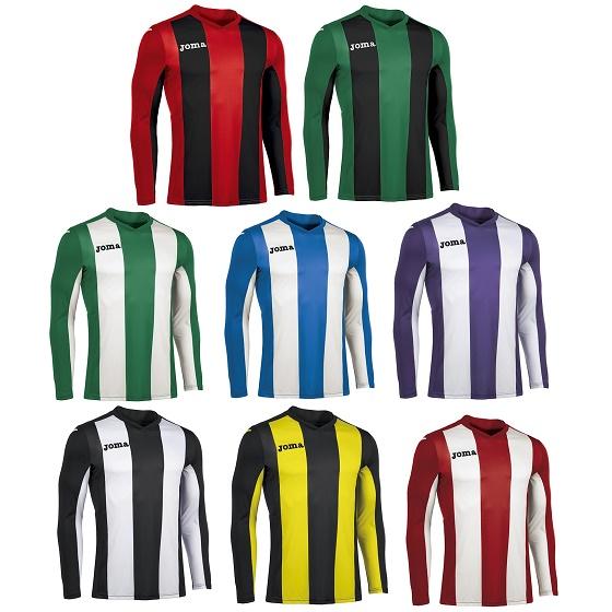 ab5f562e7a3 Joma Pisa Striped Long Sleeve Football Shirt Adults- Premier Teamwear