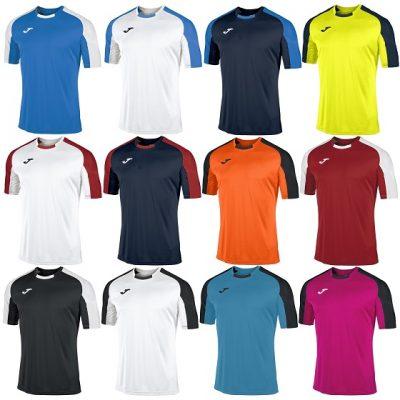Sports Top Football JOMA PISA T-SHIRT Short sleeve Large Purple//White